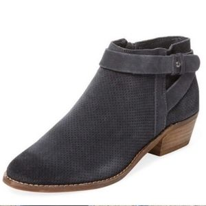 Dolce Vita // Gray Suede Perforated Booties Size 8